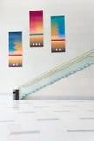 现代艺术建筑学楼梯-美国美联储 免版税库存图片