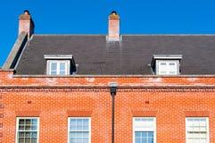 现代英国住房开发 免版税图库摄影