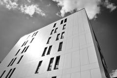 现代营业所修造的外部 黑色白色 图库摄影