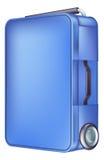 现代蓝色台车盒 免版税库存图片