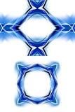 现代蓝色框架 向量例证