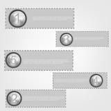 现代螺旋infographics选择可以为工作流图,数字选择,网络设计使用 免版税库存图片
