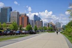 现代街市在卡尔加里,亚伯大加拿大 库存图片