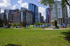 现代街市在卡尔加里,亚伯大加拿大 库存照片