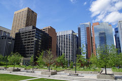现代街市在卡尔加里,亚伯大加拿大 免版税库存照片
