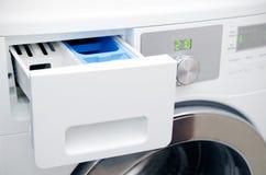 现代洗衣机抽屉 免版税库存照片