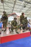 现代衣物军事人员 图库摄影