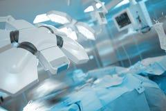现代被装备的手术室在医院 库存图片