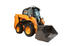 现代装载者挖掘机建筑机械设备孤立 免版税图库摄影