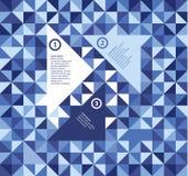 现代设计三角模板。与Th的清楚的抽象模板 免版税库存照片