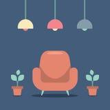 现代设计内部沙发 皇族释放例证