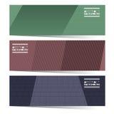 现代设计套三副五颜六色的图表水平的横幅 库存照片