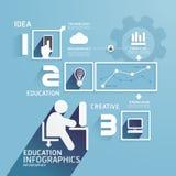 现代设计教育infographic纸裁减临时雇员 免版税库存照片
