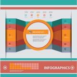 现代设计模板,减速火箭的样式 免版税库存图片