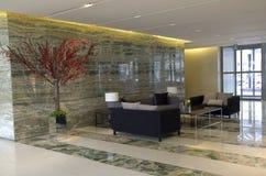 现代豪华旅馆大厅家具 免版税库存图片