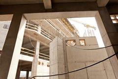 现代建造工厂站点 库存照片