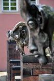 现代都市雕塑在比蒂格海姆,巴登-符腾堡州 免版税库存图片