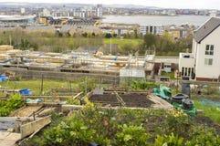 现代都市风景,英国 免版税库存照片