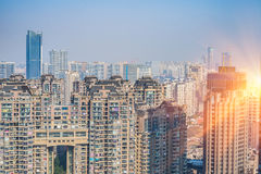 现代邻里看法在中国 库存照片