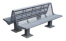 现代金属灰色长凳 免版税库存图片