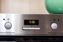 现代金属烤箱控制 向量例证