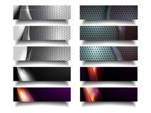 现代金属水平的横幅组装 库存图片