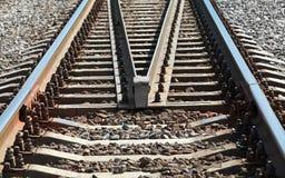 现代铁路透视 免版税库存照片