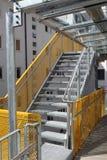 现代防火梯 库存照片