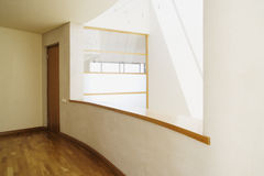 现代阳台窗口 免版税库存照片