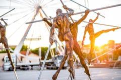 现代雕塑在安地比斯 免版税库存照片