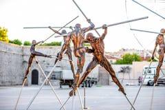 现代雕塑在安地比斯 库存照片