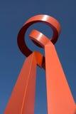 现代雕塑 免版税库存照片