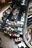 现代餐馆咖啡馆视图从上面 图库摄影