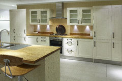 现代高端豪华厨房 库存图片