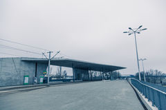 现代architekture在弗罗茨瓦夫波兰 免版税库存照片