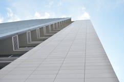 现代arhitecture,有伟大的全景的修造的办公室 库存图片