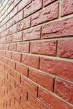 现代buildi美丽的红砖人为墙壁  免版税库存图片