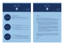 现代cv模板 免版税库存图片