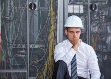 现代datacenter服务器室 免版税图库摄影