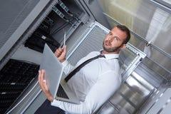 现代datacenter服务器室 库存图片