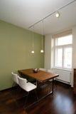 现代dinning的室 免版税库存图片