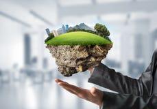现代eco友好的城市和生态概念 免版税库存照片