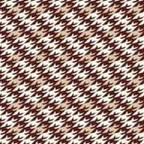 现代houndstooth无缝的样式 免版税库存照片