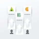 现代Infographic横幅设计模板 也corel凹道例证向量 免版税库存图片