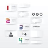 现代Infographic横幅设计模板 也corel凹道例证向量 免版税库存照片