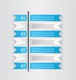 现代infographic白色和蓝色设计模板贴纸笔记 库存图片