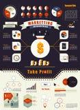 现代infographics元素 绘制透明概念图画女性现有量营销的屏幕图表 库存图片