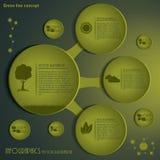 现代Infographics模板。绿色构思设计。传染媒介illus 库存照片