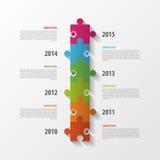 现代infographics设计 时间安排 概念编辑可能的格式难题向量 向量 免版税图库摄影
