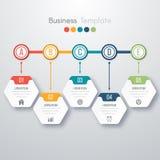 现代Infographics过程模板 库存例证